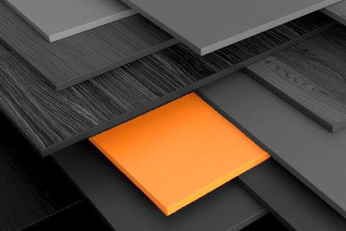 Holzmarkt Span-Dekorplatten Foto grau-orange | Hartmann Holzmarkt Frankfurt am Main