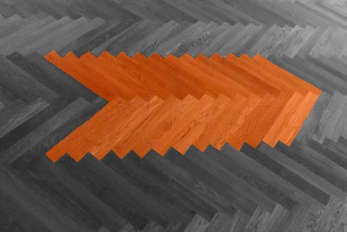 Parkett Holzfußboden Dielenboden Dielen Foto grau-orange | Hartmann Holzmarkt Frankfurt Rhein-Main