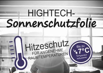 Sonnenschutzfolie Hitzeschutz Hitzereduktion Sonnenschutz-Fenster mit UV-Schutz Banner klein | Hartmann Holzmarkt Frankfurt Rhein-Main